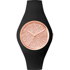 "Ice Watch Damenuhr ICE glitter - Black Rose-Gold ""001353"""