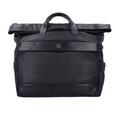 Camp David Paros Aktentasche Leder 40 cm Laptopfach, schwarz