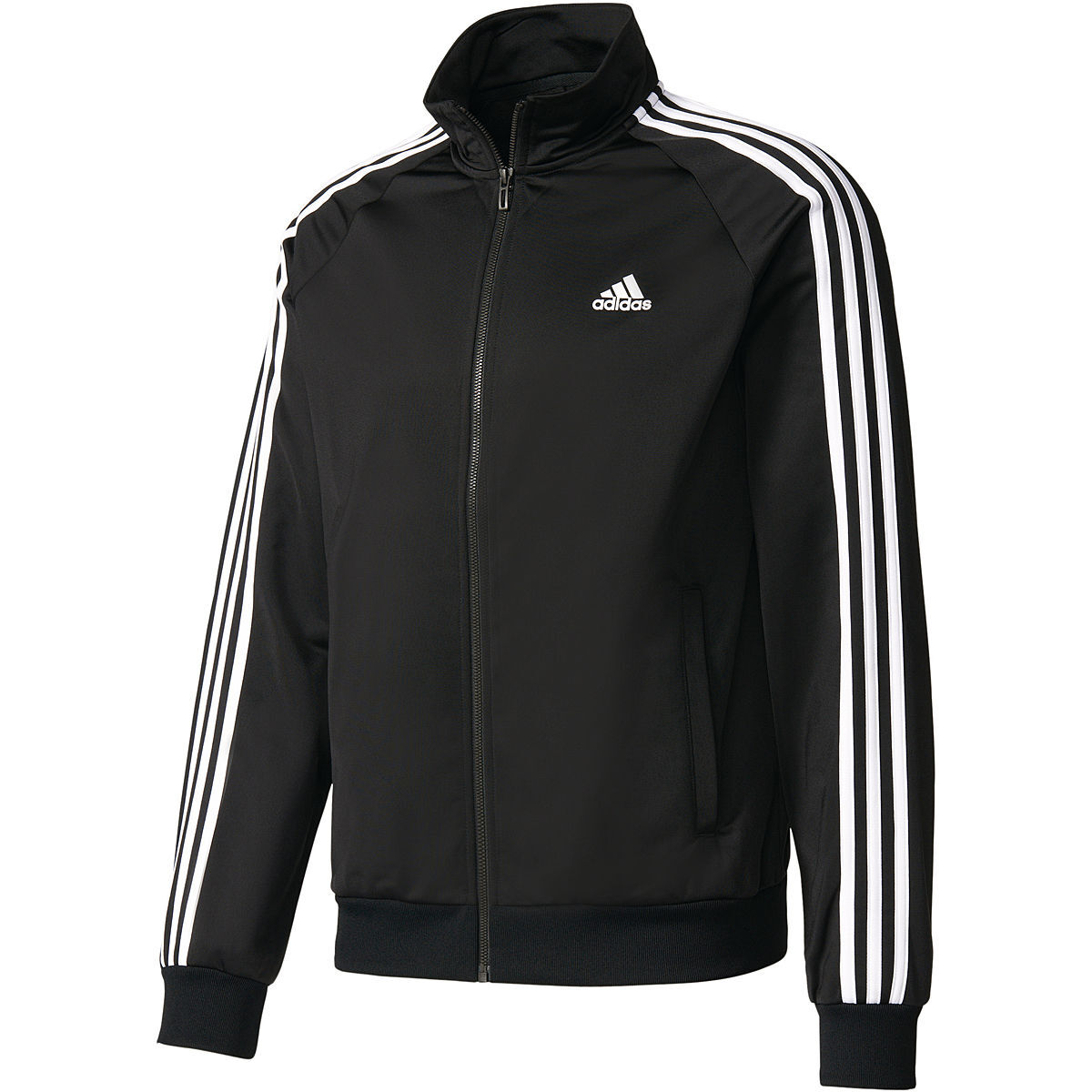 adidas herren trainingsjacke essentials schwarz wei xxl. Black Bedroom Furniture Sets. Home Design Ideas