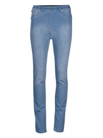 Mocca by J.L. Miracle 360° Jeans Basic, hell-jeansblau