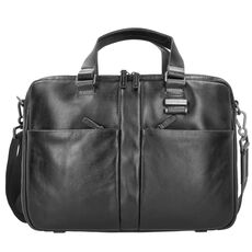 Samsonite West Harbor Aktentasche Leder 39 cm, black
