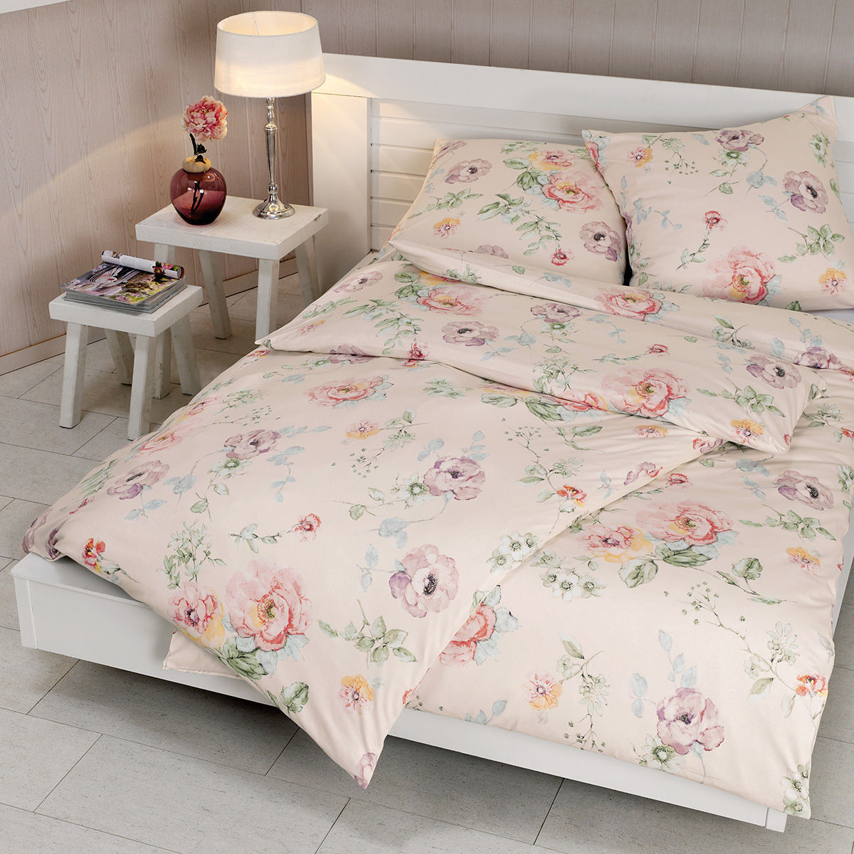 estella jersey bettw sche blumen karstadt online shop. Black Bedroom Furniture Sets. Home Design Ideas