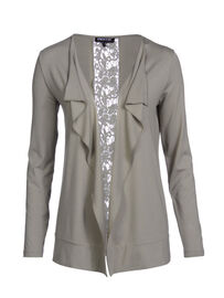Mocca by J.L. Edler open-front Cardigan, havanna