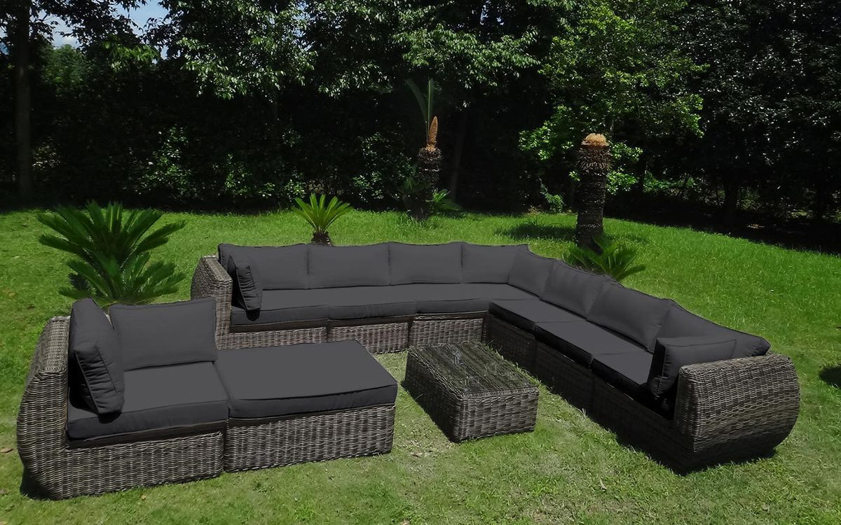 baidani rundrattan garten lounge masterpiece select. Black Bedroom Furniture Sets. Home Design Ideas