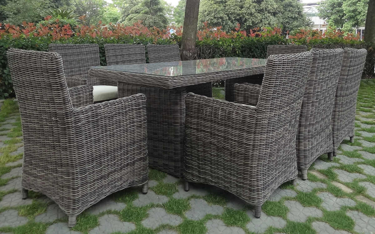 baidani rundrattan garten sitzgruppe liberty select rattan grau meliert karstadt online shop. Black Bedroom Furniture Sets. Home Design Ideas