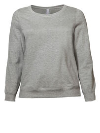 Sheego Sweatshirt, grau