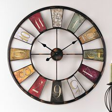 "Living Wanduhr ""Wheel"", bunt"