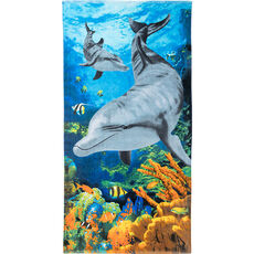 Time to relax Strandlaken Coral Dolphin, 70x140 cm