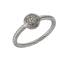 Celesta Diamonds Ring 925/- Silber 5x Diamant