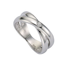 Celesta Diamonds Ring 925/- Silber 1x Diamant
