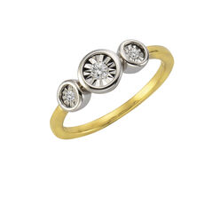 Celesta Diamonds Ring 925/- Silber 3xDiamant