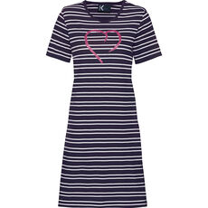 K-Town Damen Sleepshirt, gestreift