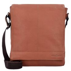 Greenburry Pure A4 Umhängetasche Leder 29 cm Tabletfach, tan