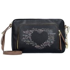 Y Not Clutch Tasche 28 cm, black