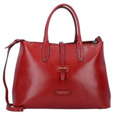 The Bridge Dalston Schultertasche Leder 36 cm, red currant