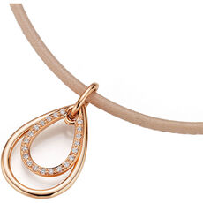 "Cara d´Or Damen Collier ""15197-600-R5"", 585er Roségold mit Brillanten"