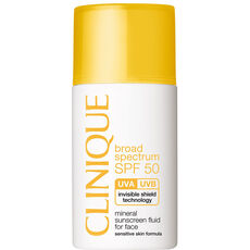 Clinique SPF 50 Mineral Sunscreen Fluid for Face, 30 ml
