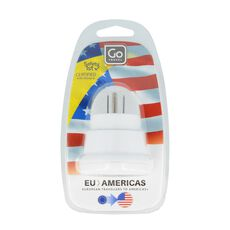 Go Travel Adapter Europa-USA, weiss