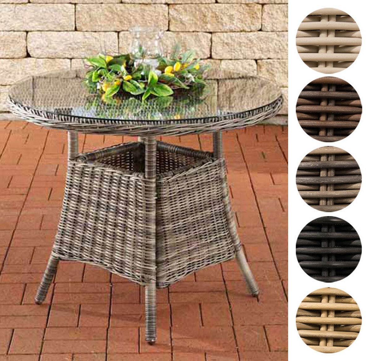 clp poly rattan tisch farsund gartentisch rund 90 cm. Black Bedroom Furniture Sets. Home Design Ideas