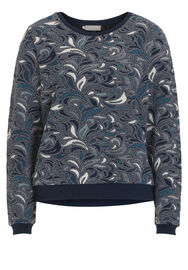 Betty & Co Pullover gemustert, Dark Blue/Petrol - Blau