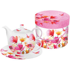 ppd Tea-4-one-Set Aquarell Poppies