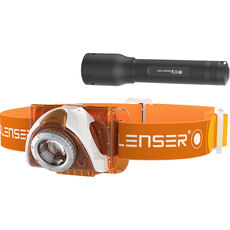 Led Lenser Set LED-Stirnlampe & LED-Taschenlampe SEO 3 orange & P5.2