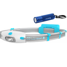 Led Lenser Set LED-Stirnlampe & LED-Taschenlampe K2 blue & Neo blue High Performance