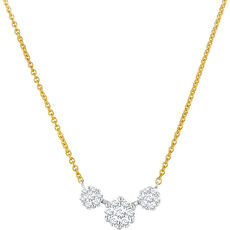 Vandenberg Damen Collier, 585er Gold mit Brillanten