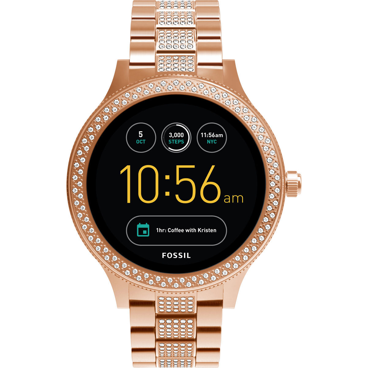 fossil q damen smartwatch q venture ftw6008 karstadt. Black Bedroom Furniture Sets. Home Design Ideas