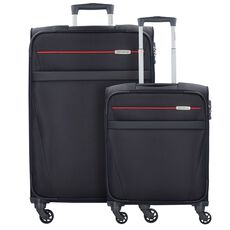 Samsonite NCS Auva 4-Rollen Spinner Kofferset 2tlg., black red