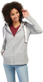Tom Tailor Sweatjacke mit Satin-Band, light frost grey
