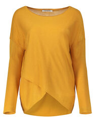Betty Barclay Pullover mit Wickeloptik, Golden Glow - Braun