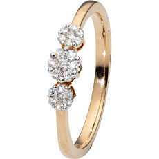 Vandenberg Damen Ring, 375er Gold mit 21 Brillianten