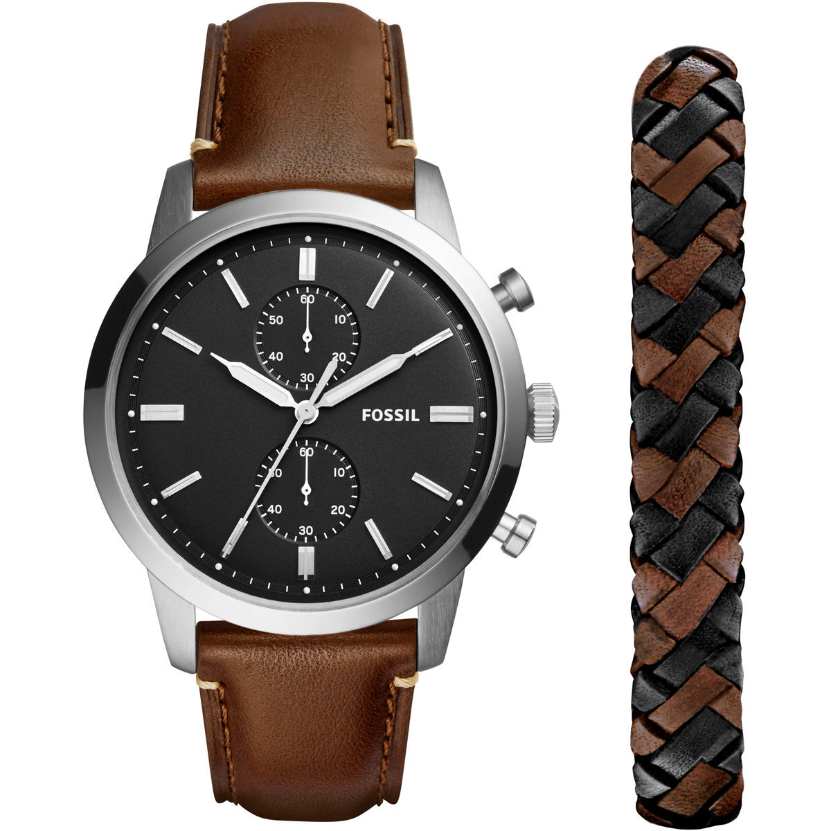 fossil herren chronograph townsman mit armband fs5394set. Black Bedroom Furniture Sets. Home Design Ideas