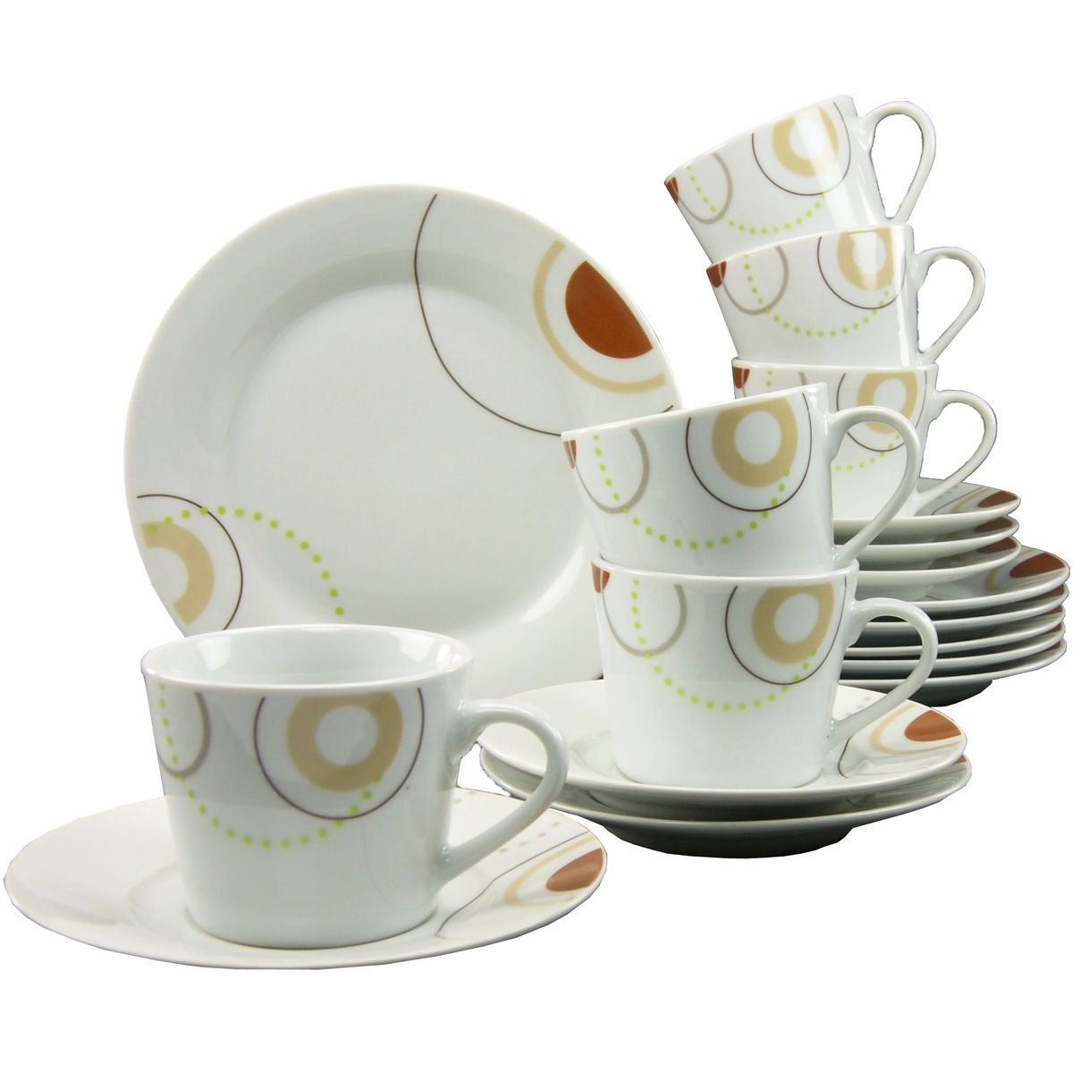 creatable porzellan kaffee set circles 18 teilig karstadt online shop. Black Bedroom Furniture Sets. Home Design Ideas