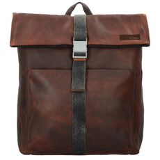 Strellson Goldhawk Rucksack Leder 46 cm Laptopfach, brown