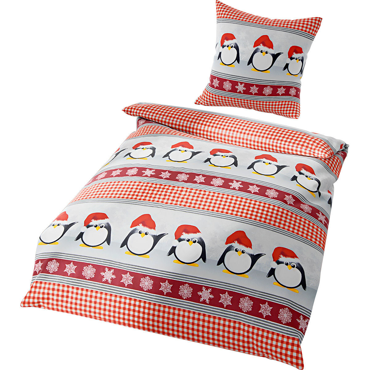 bierbaum biber bettw sche pinguine 135x200 cm karstadt online shop. Black Bedroom Furniture Sets. Home Design Ideas