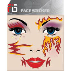 FIG Face Sticker - Feuer - new Sty