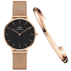 "Daniel Wellington Damen Set Uhr & Armreif ""DW00500001"""