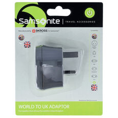 Samsonite Travel Accessories World-UK Adapter, graphite
