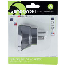 Samsonite Travel Accessories Europe-USA Adapter, graphite