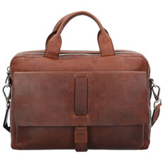 Joop! Loreto Pandion Aktentasche Leder 39 cm Laptopfach, dark brown