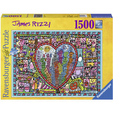 Ravensburger Puzzle James Rizzi:  All that Love in the Middle of the City, 1500 Teile