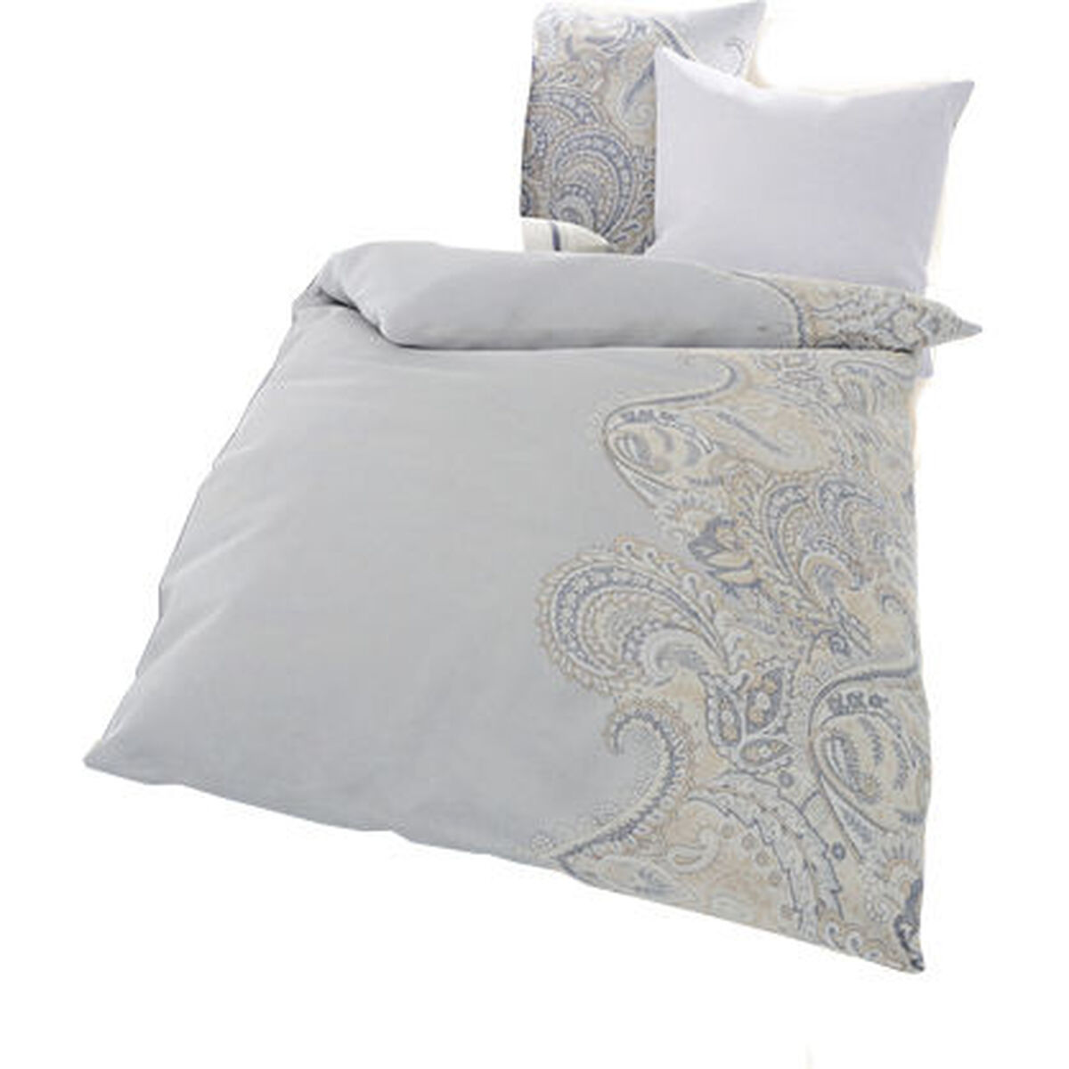 ido collection biber bettw sche paisley hellgrau 135x200 cm karstadt online shop. Black Bedroom Furniture Sets. Home Design Ideas