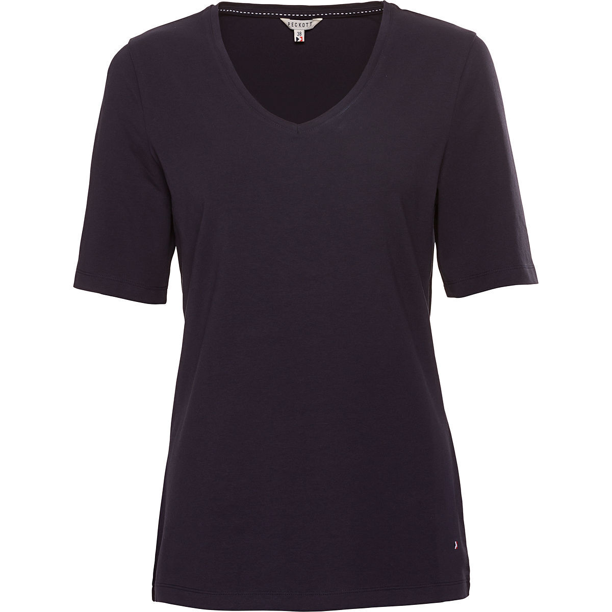 peckott damen t shirt v ausschnitt navy 40 karstadt. Black Bedroom Furniture Sets. Home Design Ideas