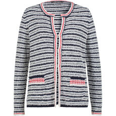 Olsen Damen Strickjacke, gestreift
