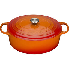 Le Creuset Bräter Signature oval 35 cm, ofenrot