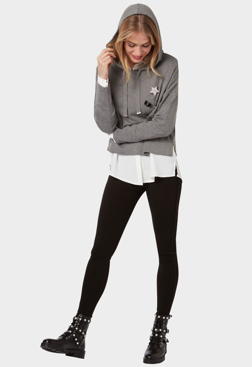 bonita franziska knuppe f r bonita kaputzenpullover soft medium grey melange 2 karstadt. Black Bedroom Furniture Sets. Home Design Ideas