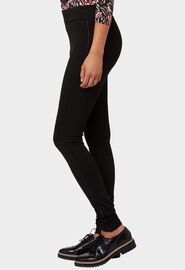 Bonita Jeggings mit Metal-Badge, schwarz*