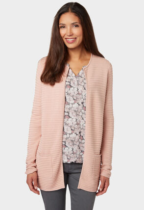 Bonita Strickjacke in femininem Look, dark rose water